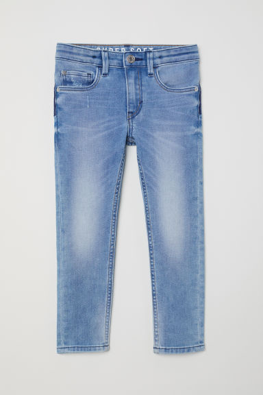 Super Soft Skinny Fit Jeans - 牛仔蓝 - Kids | H&M CN
