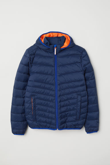 Padded lightweight jacket - Dark blue - Kids | H&M