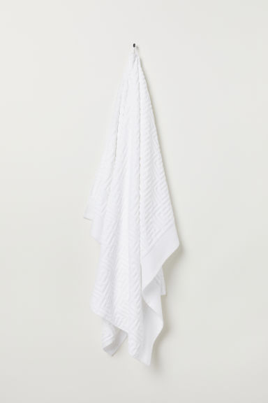Toalla de baño en jacquard - Blanco - Home All | H&M MX