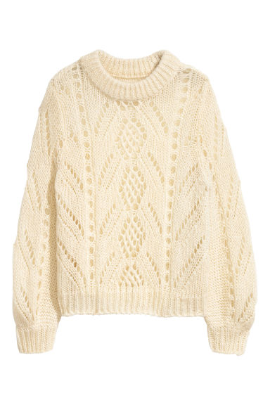 Knitted jumper - Light beige marl - Ladies | H&M