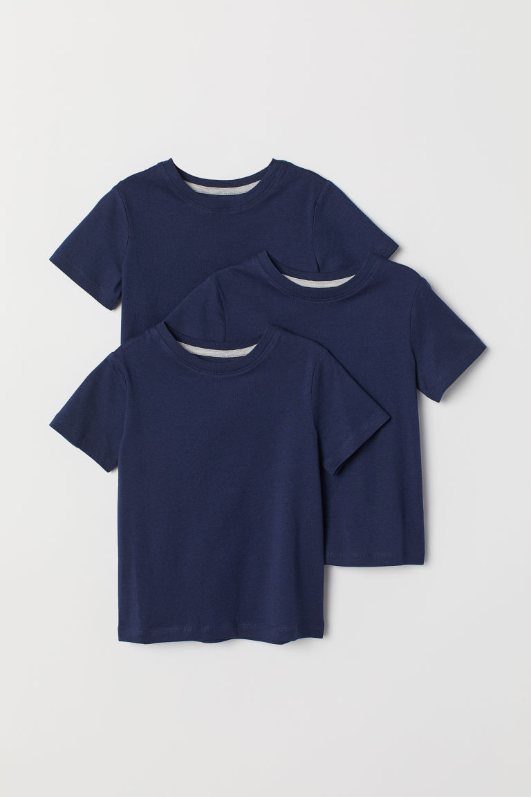 T-shirt, 3 pz - Blu scuro - BAMBINO | H&M IT