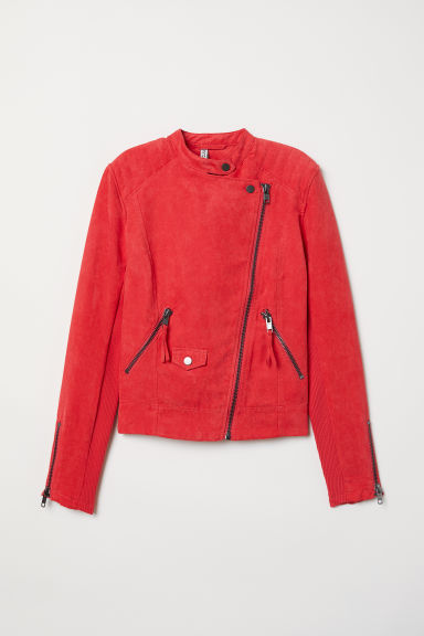 Biker Jacket - Raspberry red -  | H&M US