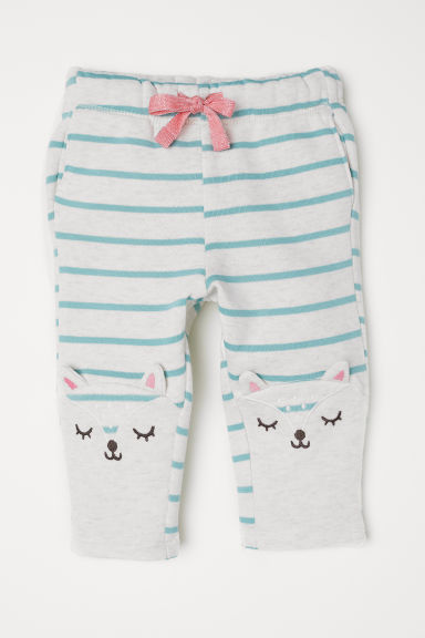 Trousers with a motif - Light turquoise/Deer - Kids | H&M CN