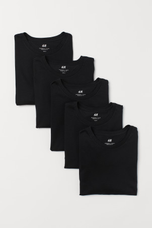 T-shirts réguliers, lot de 5