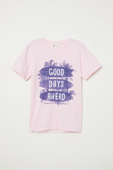 T-shirt avec motif - Rose clair/Good Days Ahead - ENFANT | H&M CH