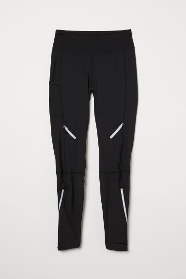 Winter running tights - Black - Ladies | H&M