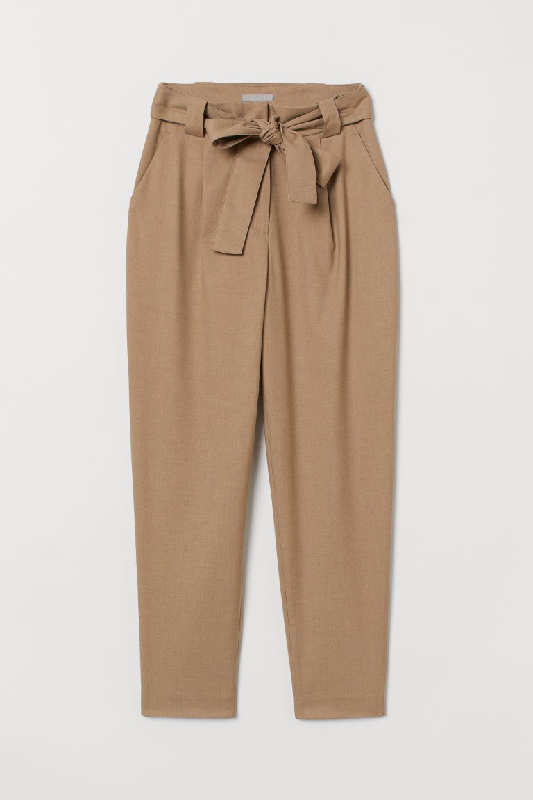 Ankle-length trousers - Beige - Ladies | H&M