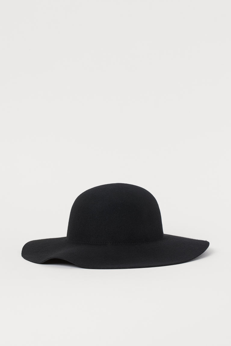 Felted Wool Hat - Black - Ladies | H&M CA