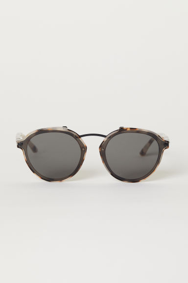 Sunglasses - Light beige/Tortoiseshell look - Men | H&M CN