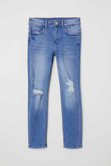 Skinny Fit Worn Jeans - Denim blue - Kids | H&M CN