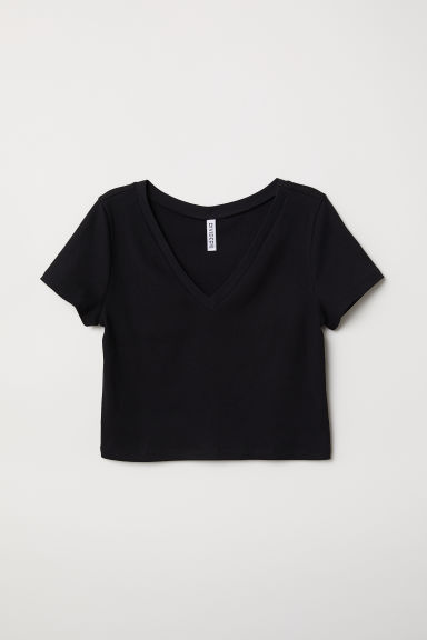 Crop top - Zwart -  | H&M BE