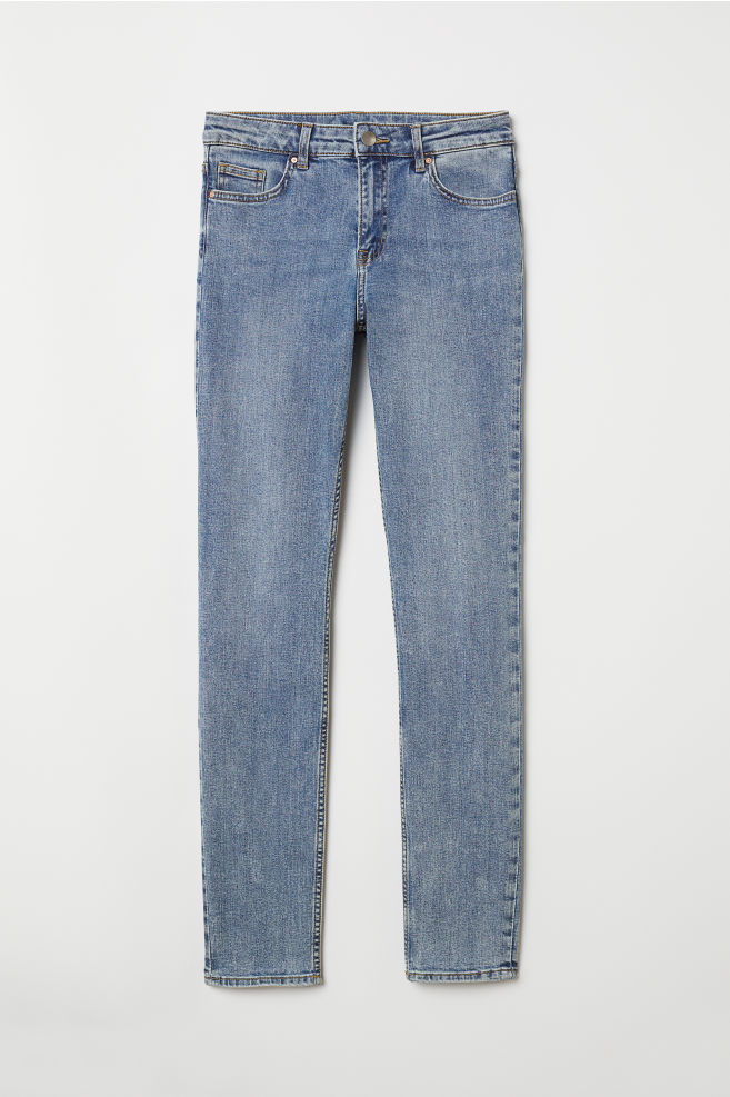 Pants Skinny fit - Light denim blue - Ladies | H&M US 1