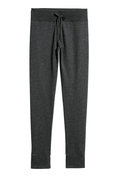Sweatshirt leggings - Dark grey marl - Ladies | H&M
