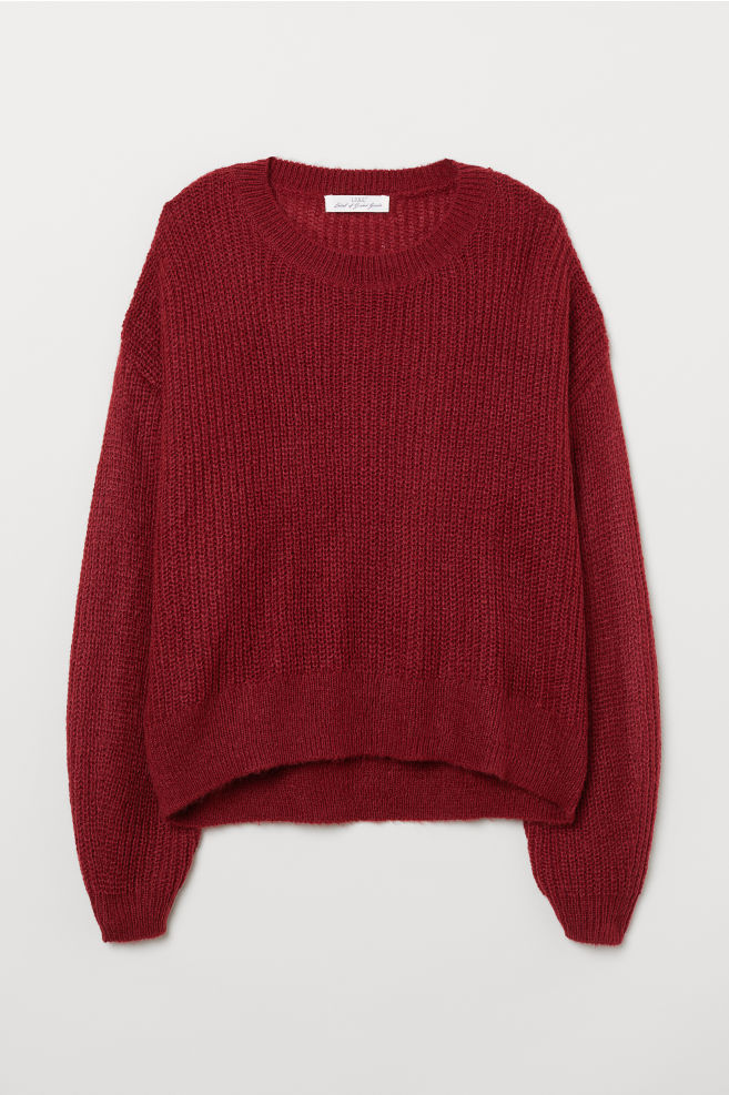 b74799c86b Loose-knit Sweater - Dark red - Ladies