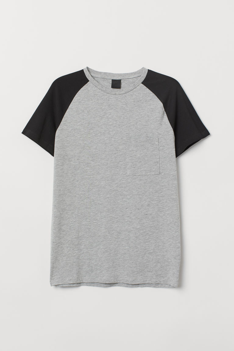 T-shirt Muscle Fit - Grey marl/Black - Men | H&M CN