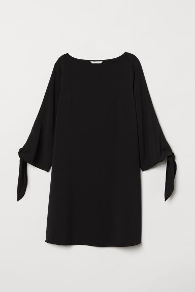 Abito increspato - Nero - DONNA | H&M IT