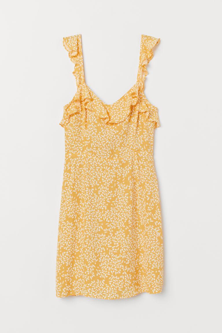 gul klänning hm