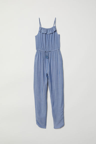 Sleeveless jumpsuit - Blue/Chambray - Kids | H&M