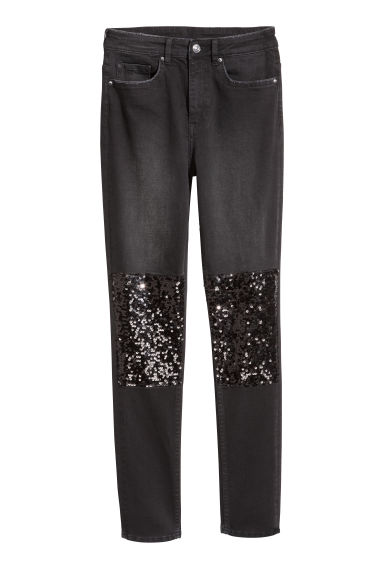 Super Skinny High Jeans - Svart denim - DAM | H&M FI