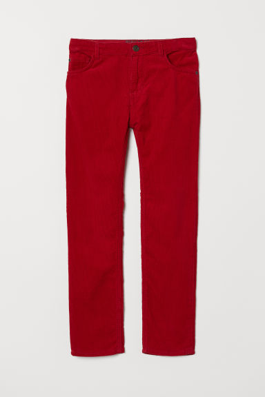 Corduroy trousers - Red - Kids | H&M