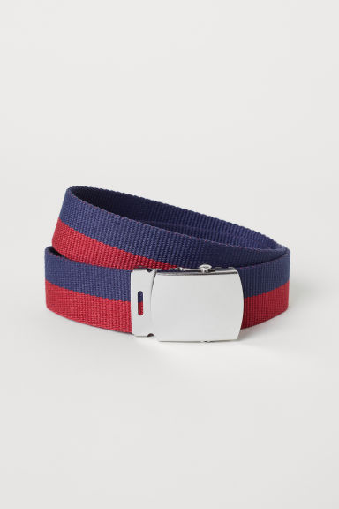 Webbing belt - Dark blue/Red - Men | H&M
