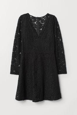 Krajkové šaty s výstřihem do V 92b7ccc1f0