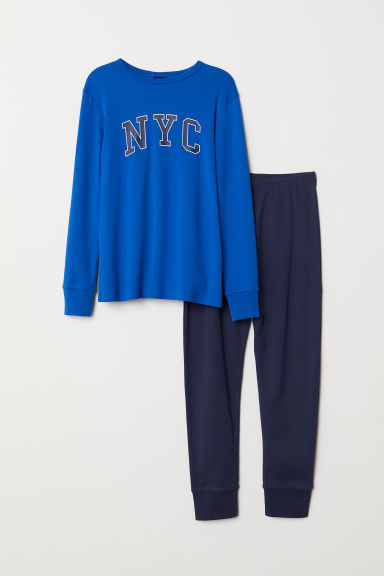 Pyjamas - Bright blue/NYC -  | H&M