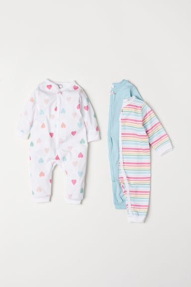 3-pack cotton pyjamas - White/Hearts - Kids | H&M CN
