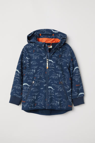 Water-repellent shell jacket - Dark blue/Dinosaurs - Kids | H&M