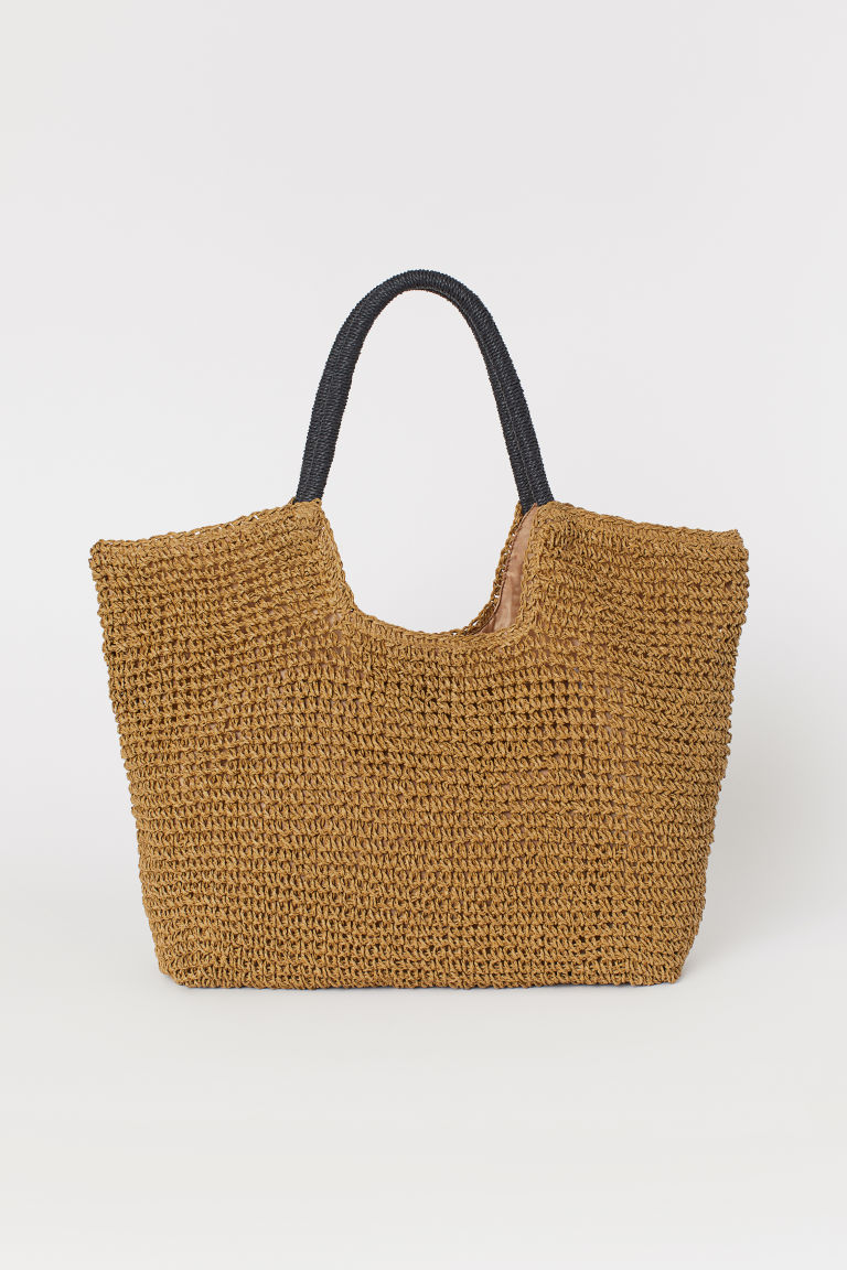 Paper Straw Shopper - Beige - Ladies | H&M CA