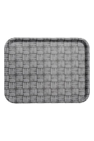 Patterned tray - Black/White patterned - Home All | H&M GB