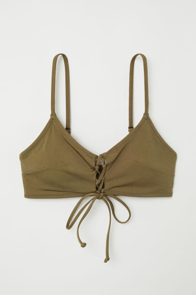 Bikini top - Khaki green - Ladies | H&M