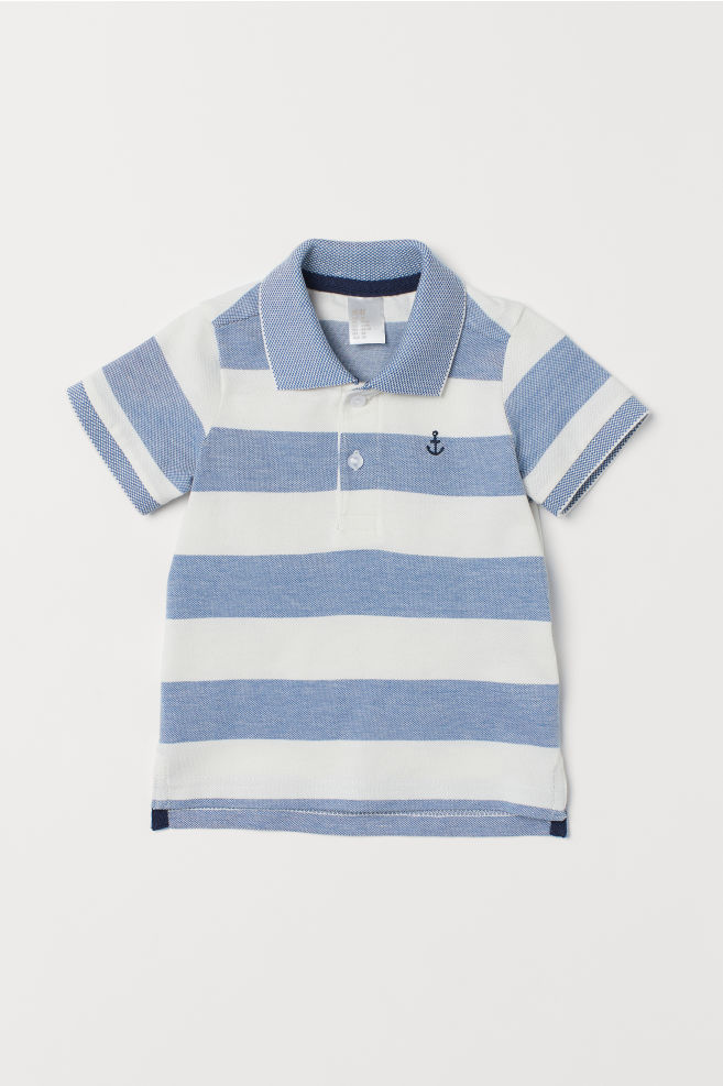 8d070c50d5 Polo Shirt - Blue/white striped - Kids   H&M ...