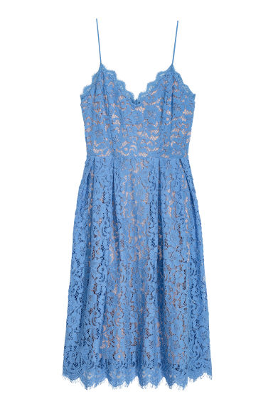 H&M+ Lace dress - Dusky blue - Ladies | H&M IE
