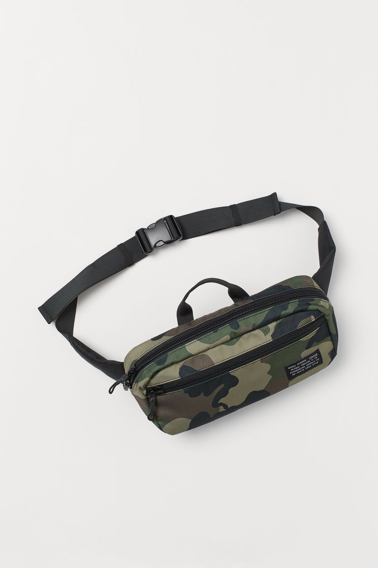 Waist bag - Khaki green/Patterned -  | H&M GB