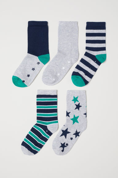 5-pack anti-slip-socks - Green/Grey - Kids | H&M CN
