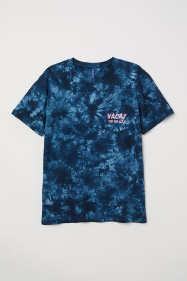 T-shirt with a chest pocket - Dark blue/Batik - Men | H&M CN