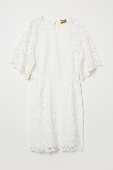 Short lace dress - White - Ladies | H&M CN