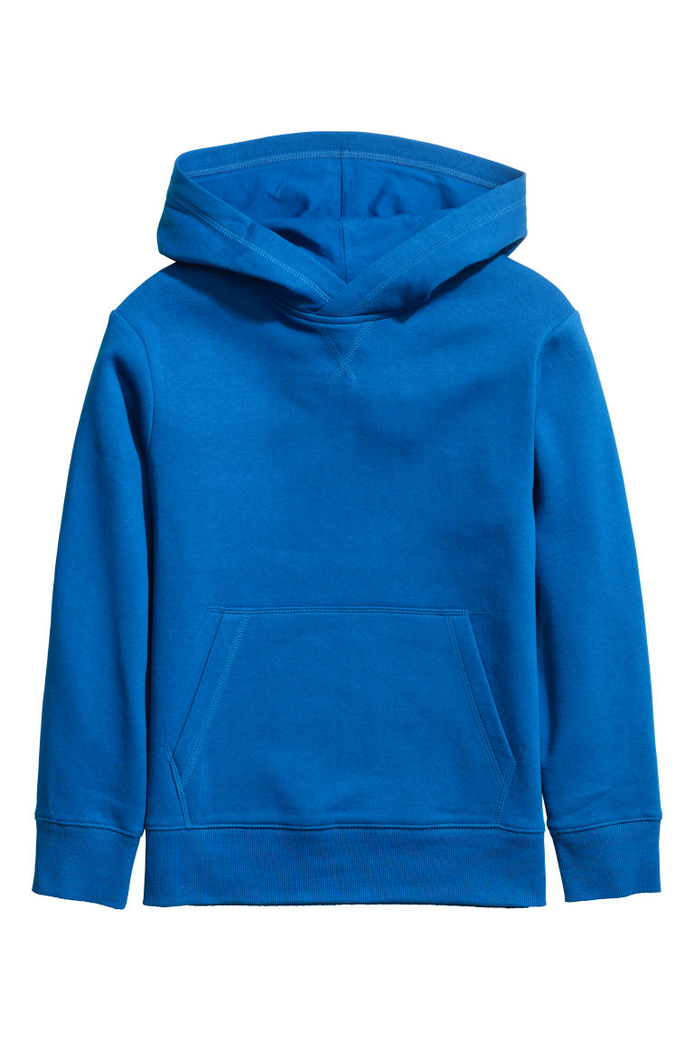 Hooded top - Bright blue - Kids | H&M IE