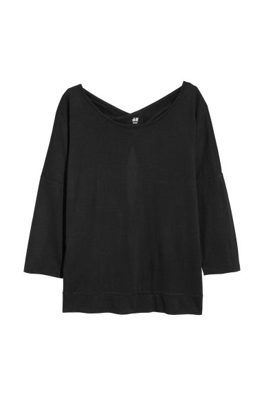 Yoga top - Black -  | H&M