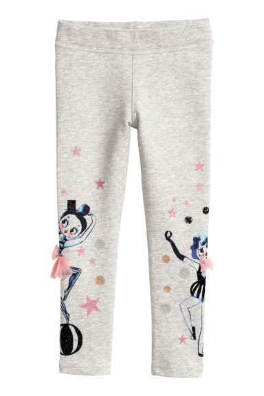 Jersey leggings - Light grey/Circus -  | H&M GB