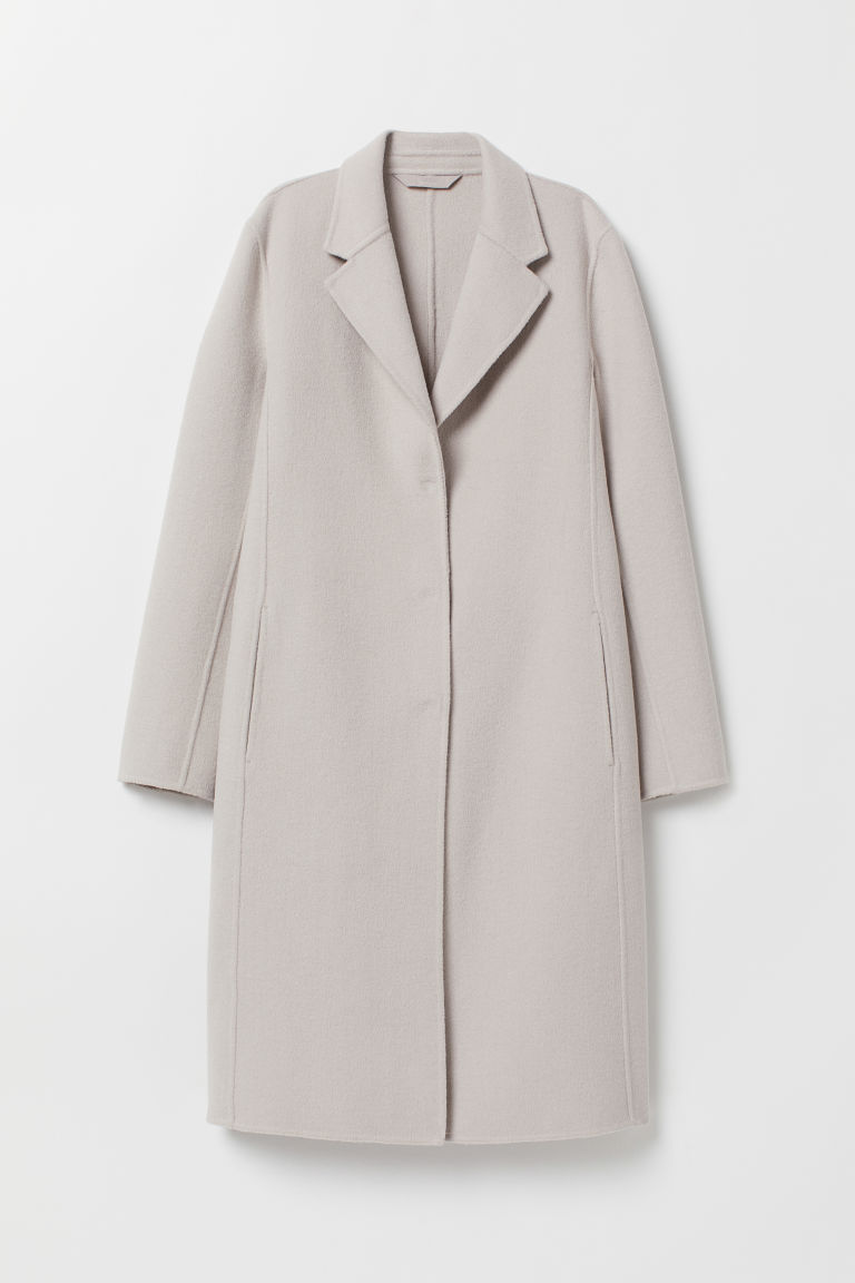 Wool-blend coat - Light mole - Ladies | H&M