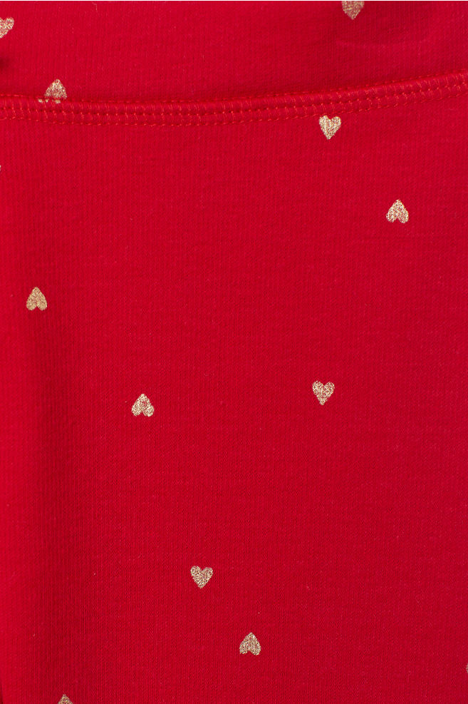 589cc35d57f68 Patterned leggings - Red/Hearts - Kids   H&M ...