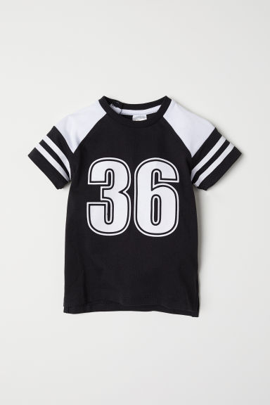 Printed T-shirt - Black/36 - Kids | H&M