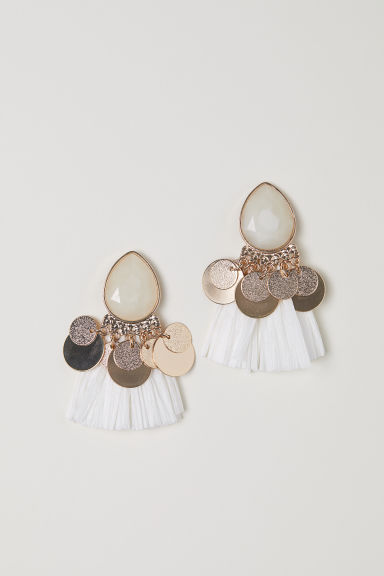 Earrings - White - Ladies | H&M CN
