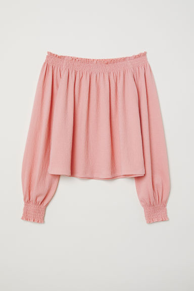 Off-the-shoulder blouse - Old rose - Ladies | H&M