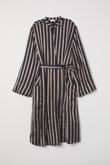 Wrap dress - Dark blue/Striped -  | H&M