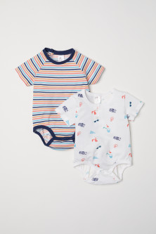 2-pack cotton bodysuits