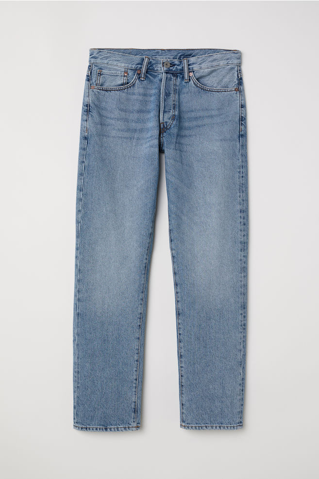 bb9cb127 Straight Jeans - Light blue denim - Men | H&M ...
