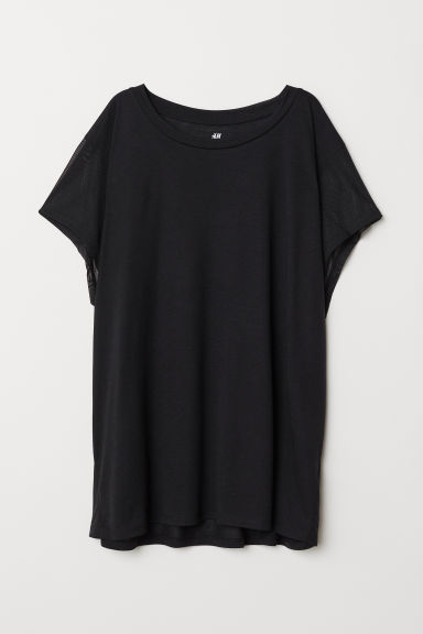 Top sportivo ampio - Nero - DONNA | H&M IT